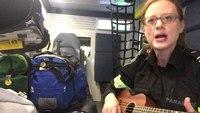 #ambucover Artist in the Ambulance (Thrice) in an ambulance ukulele