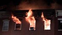 Raw video: 4-alarm apartment fire in NJ