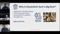 Evidence Management Webinar E3: Evidence disposition process and case study