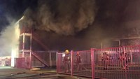 Nev. firefighters battle apartment blaze