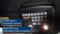 2020-2021 Ford Interceptor Utility & Explorer Overhead Console