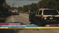 Driver killed after crashing into Fla. fire truck