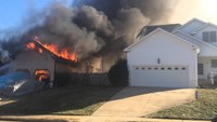 Early video: Va. house fire