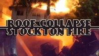 Calif. firefighters battle 3-alarm blaze, roof collapse