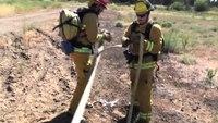 Deploying a progressive hose lay