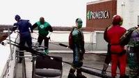 SWAT team dressed as superheroes visit children's hospital
