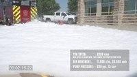 Snow in July? No, just foam. Lots of it.