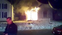Dash cam: Ohio house fire with evacuation order