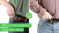 Concealed Holster Test - Can You Tell Who's Concealed Carrying?