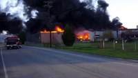 Explosion, fire rips through old Ga. mill