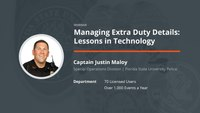 Managing Extra Duty Details: Lessons in Technology