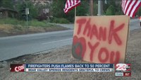 Residents thank firefighters