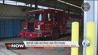 Detroit rolls out three new fire trucks