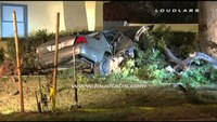 DUI driver steals fire chief's car, crashes into house