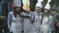 Pancake race raises funds for London's Air Ambulance