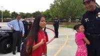 San Diego Police escort fallen officer's daughter to school