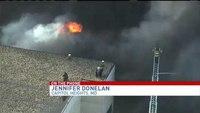 2 fire trucks destroyed in fire; 2 firefighters hurt