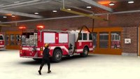 Vehicle exhaust system in a fire station using the Pneumatic Grabber®
