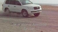 International Armored Group (IAG) armored car test of B6 Toyota Landcruiser 200