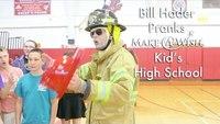 Comedian pranks high school kids on fire safety
