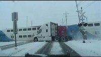 Utah train rams into FedEx truck