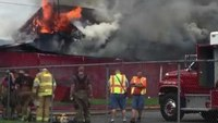 Flames engulf W.Va. fire station