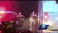 OHP dashcam footage shows pursuit with stolen ambulance