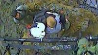 Raw video: Rescue team pulls boy from mudslide