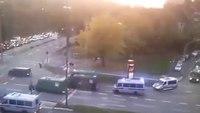 Massive police convoy