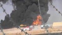 Huge factory explosion