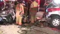 Extrication after ambulance crash