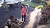 Firefighter proposes to girlfriend on fake call