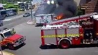 Runaway truck fire