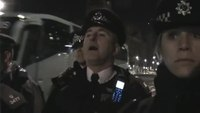 Man argues with cops for barricading road