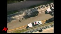 Chase ends with tanker crash