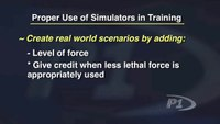 Proper Use of Simulators for Training