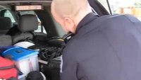 Officer gives tour of vehicle, tech
