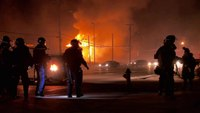 EMS1 camera crew captures barrage of gunfire during Ferguson riots