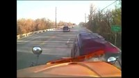 School bus cam captures head-on collision with SUV