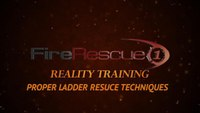Reality Training: Proper ladder rescue techniques