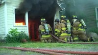 Garage door live burn training