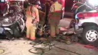Extrication after ambulance crash
