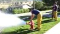Fire hydrant opening demo