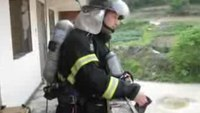 Korea firefighter drills