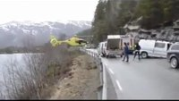 Air Ambulance Lands on Crash Barrier in Norway