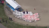 4 hurt when giant kite crashes in Japan