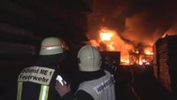 4 firefighters hurt in German warehouse blaze