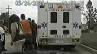 Police pull over ambulance transporting patient