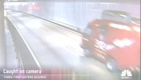 Fire truck crash caught on camera in Japan
