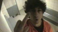 Boston bomber flips off jail cell surveillance cam
